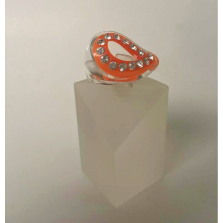 Swarovski and Plexiglass Ring
